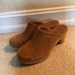 Tan ugg clogs. Size 8. Worn twice.